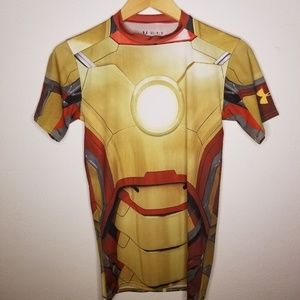 Marvel Iron Man Under Armour Heat Gear Shirt